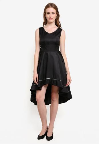 Megane black Aaliyah Hi-Low Dress ME617AA0REKBMY_1