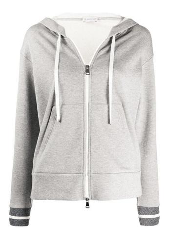 Moncler grey Moncler Macro Logo Jacket in Grey E4B34AAF2B56FDGS_1