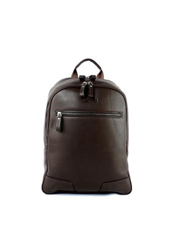 RENOMA Paris brown Renoma Men's PIECE Backpack 1960059-03 4520BACE9E7068GS_1
