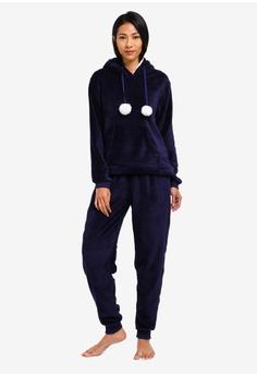 85c9634b5f 60% OFF Dorothy Perkins Navy Lambi Pom Pom Pyjama Set RM 199.00 NOW RM  79.90 Sizes S M L