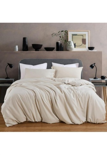 Bedding Day Bedding Day - Soft Microfiber Solid 700TC Fitted Sheet Set - Taupe 8D0D7HL29E396AGS_1