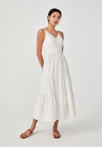 Love, Bonito brown Pixie Tiered Maxi Dress A9CA5AA9E65FF4GS_1