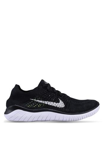 Nike black Womens Nike Free Rn Flyknit 2018 Shoes 5FC60SH8ED588AGS_1