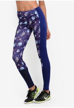 【ZALORA】 花卉網格色塊內搭褲