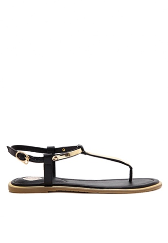 Twenty Eight Shoes black Sexy Toe Post Flat Sandals VS8858 CB6A5SH8A93D4FGS_1