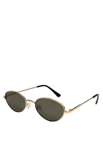 Mango gold Metallic Frame Sunglasses 39DFCGL190970AGS_1