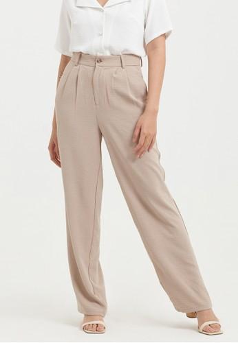 Cloth Inc beige Airy Lounge Pants in Khaki B52B9AAB2ED563GS_1