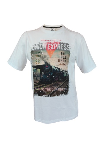 ULMT Unlimited ULMT Unlimited Extra Large Size Men Round Neck Short Sleeve Graphic Tee 0XL-6XL Plus Size ULMT100011 (Off White) 996E7AA0C2C92CGS_1
