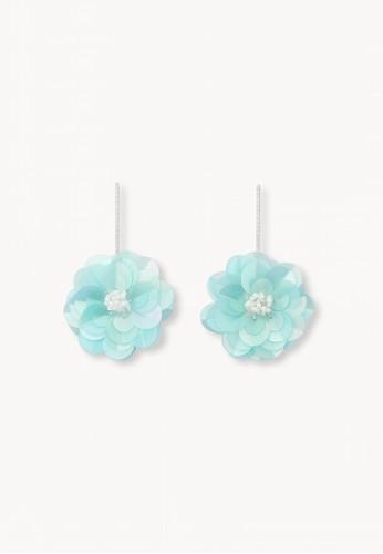Pomelo blue Blossom Drop Earrings - Blue 7BFCBACDE3D13FGS_1