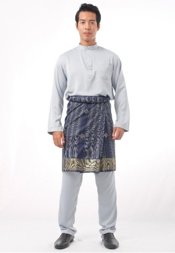 KAMDAR grey Abrisyam Baju Melayu 2D17EAA77ED93AGS_1