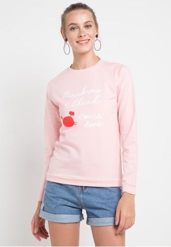 MEIJI-JOY pink Pinch Me I Think I'M In Love Sweater 9B0B1AA3A889D7GS_1