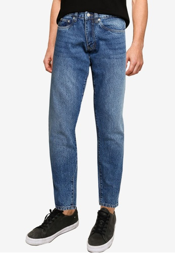 Electro Denim Lab blue Cropped Tapered Jeans D1132AA8CCC8CDGS_1