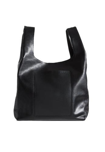 "LINGWU black LINGWU Le Sac Black 12"" shoulder bag DD304AC68DC443GS_1"