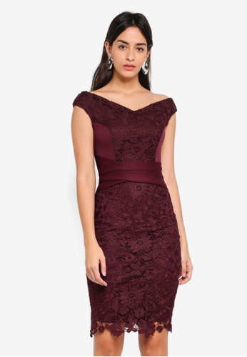 Dorothy Perkins red Scarlett B Mulberry 'Sophie' Bodycon Dress 2A640AA75BC623GS_1