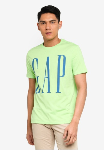 GAP green Corp Logo T-Shirt 3C347AA9F2A979GS_1
