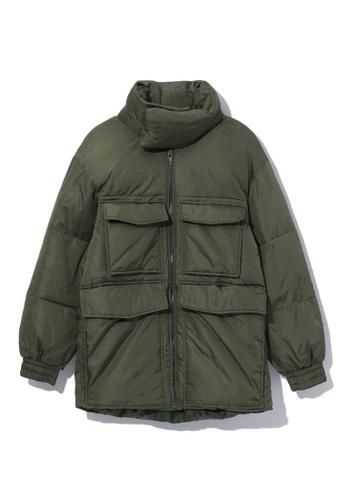 LOS ANGELES PROJECT -FASHION green Utility puffer coat. AE333AA2BDB3BFGS_1