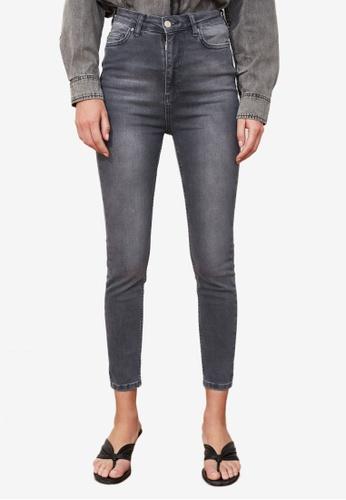 Trendyol grey High Waist Skinny Jeans 6872FAAE7E3B72GS_1