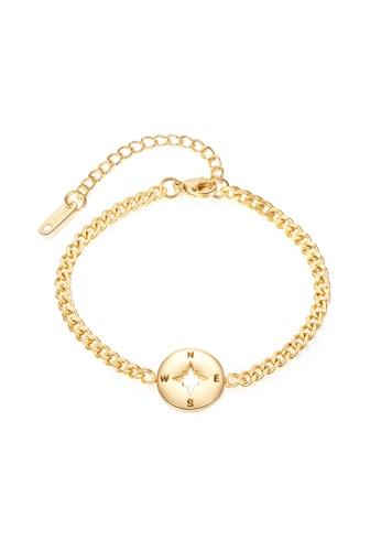 CELOVIS gold CELOVIS - Journey Compass Pendant Bracelet in Gold 0A00CACEA06A0CGS_1