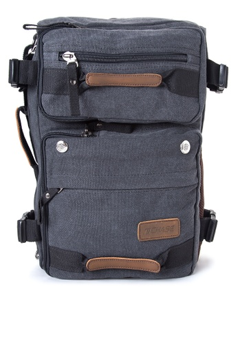 Chase Fashion black Raine 2-in-1 Canvas Duffel x Backpack CH547AC86DVLPH_1