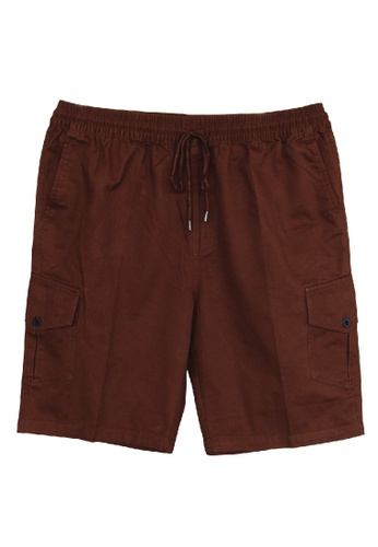 Extrema brown Extrema Men Big Size Cargo Short Pant 0XL-4XL Plus Size EXS5003 (Brown) EDD07AA79A78BFGS_1