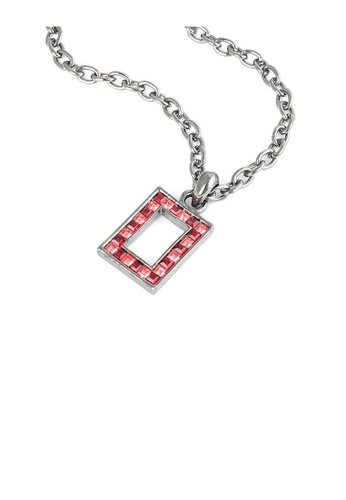 Glamorousky silver Rectangle Pendant with Red Austrian Element Crystals and Necklace B66D3ACBB29AABGS_1