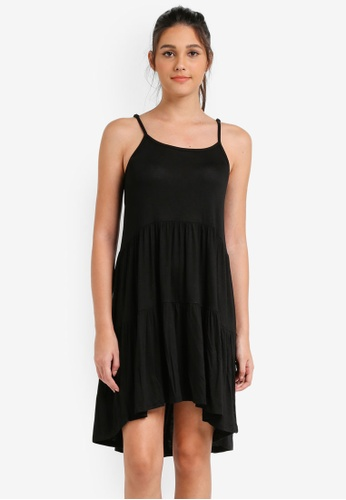 Something Borrowed black Tiered Babydoll Cami Dress 94719ZZ3D317BAGS_1