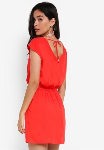Vero Moda red Alva S/S Short Dress 199D3AA1787196GS_1