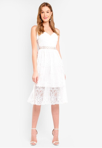 True Decadence white Strappy Lace Dress 577F6AA8F10A15GS_1