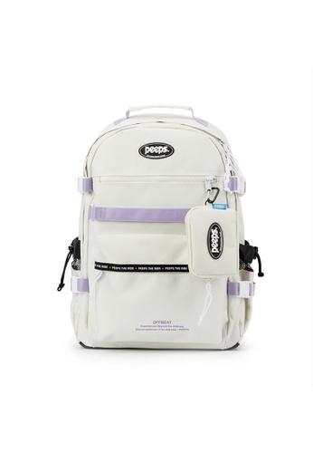 Peeps white Offbeat Backpack 029AAACFA5198EGS_1