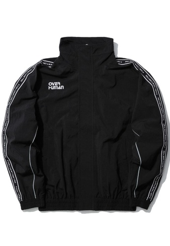 Fivecm black Over Human taped jacket 2FA03AAD65DB04GS_1