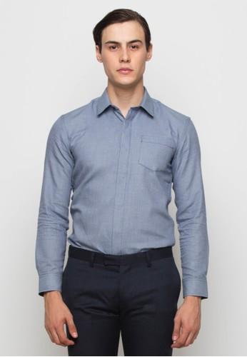 The Executive grey Long Sleeves Shirt DC1E2AA0AE8021GS_1
