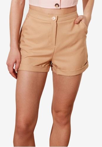 Trendyol 米褐色 基本Petite 短褲 AF93CAA8AF73CBGS_1