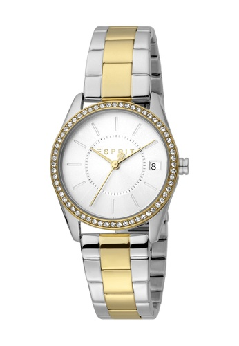 ESPRIT 金色 Esprit [Robinson] 30mm Two-Tone Stainless Steel and Gold Band Women Watch [ES1L195M0115] E4445AC75C2DE6GS_1