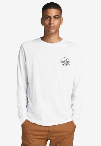 JACK & JONES white Kimbel Long Sleeves Tee 5FFF4AA12EF9E0GS_1