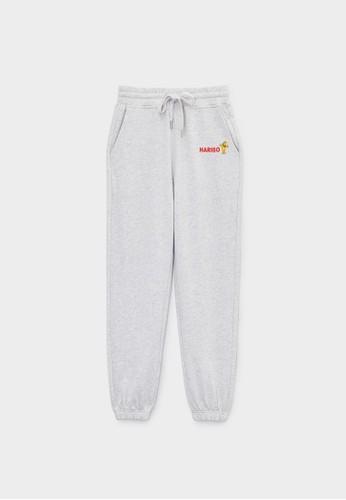 Pomelo grey Haribo Elastic Waist Sweatpants - Light Grey CE03FAA57A6218GS_1