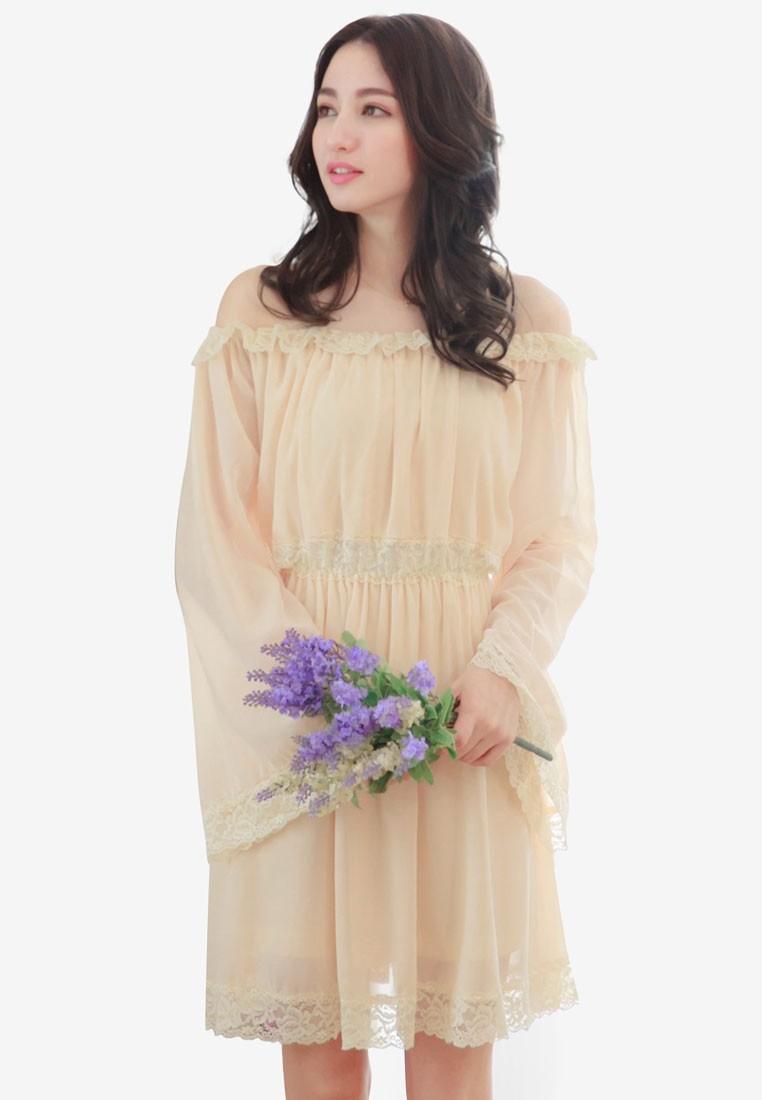 Bell Sleeve Off Shoulder Dress