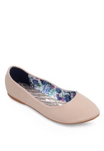 素色尖頭平底esprit 鞋鞋, 女鞋, 鞋