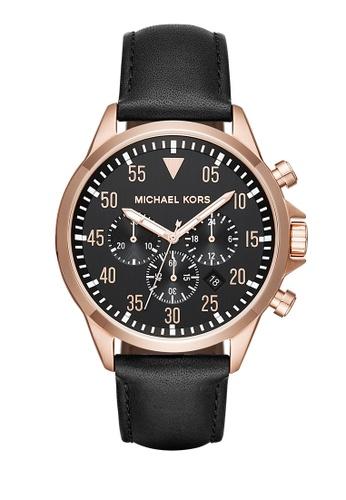 MICHAEL KORS black Gage Chronograph Watch MI248AC0K958PH_1