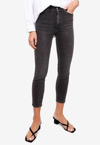 H&M grey Skinny High Jeans 53B5AAA1FE118DGS_1