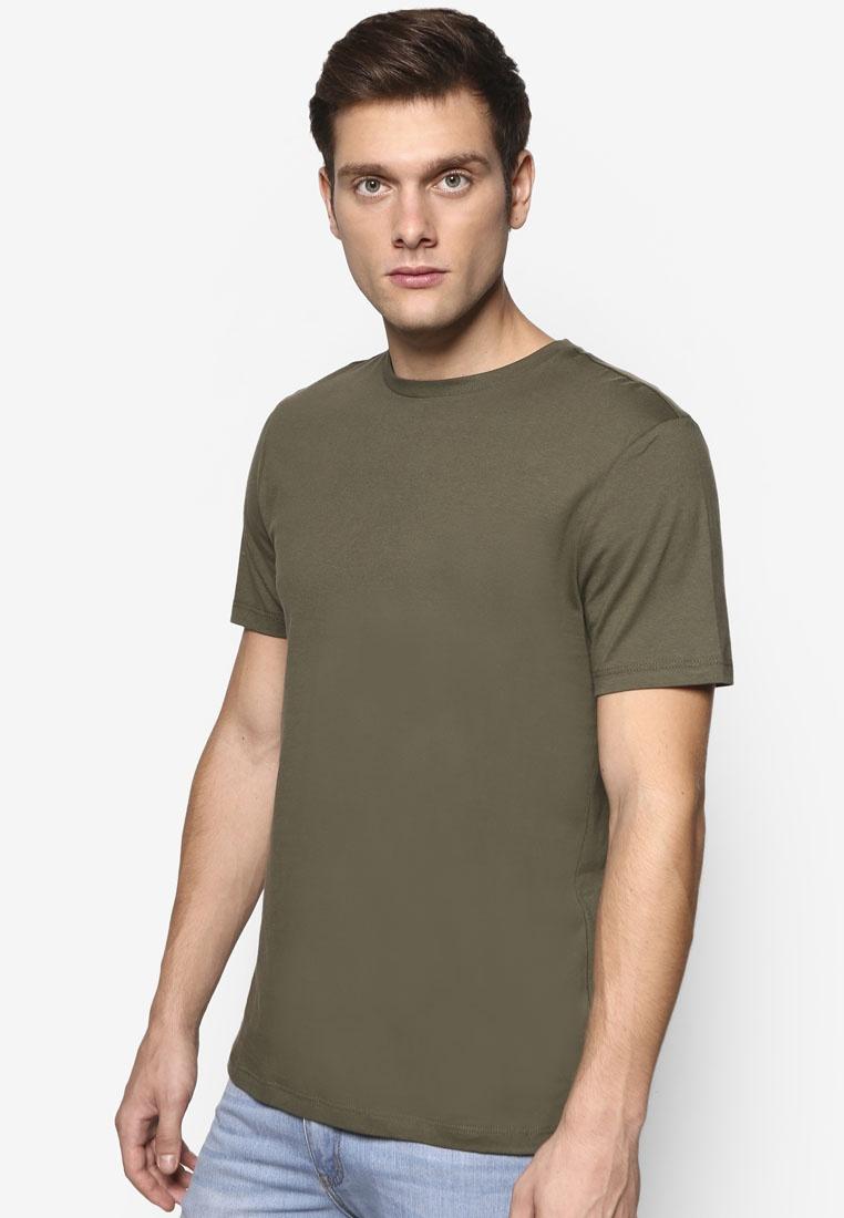 Topman Jersey Olive Khaki T Slim Fit Shirt Khaki xfCwq7UHw