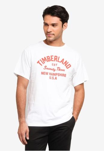 Timberland white Paint Inspired Brand Tee C16CBAA86F13D9GS_1