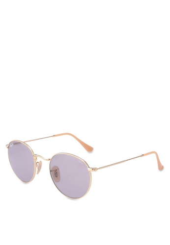 Ray-Ban gold Round Metal RB3447 Sunglasses CB91FGLFE25603GS_1