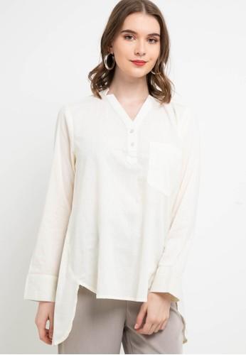Lois Jeans beige Cotton Dobby Blouse KC734 85532AAEA96583GS_1