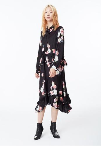 EJnolee black Flower Print Black Dress EJ188AA0FIGUSG_1