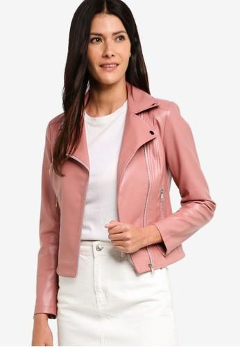 ZALORA pink Biker Jacket 1DAA6AA64B2AE2GS 1 aa5aba6948