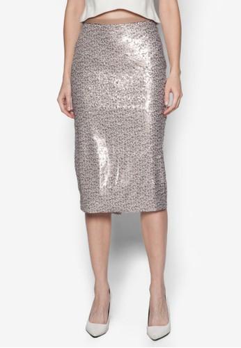 亮片鉛筆裙,zalora 包包 ptt 服飾, 服飾