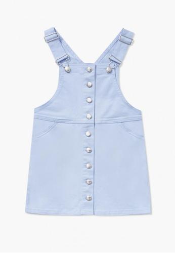 FOREVER 21 blue Denim Overall Dress 20392KA5978C6CGS_1