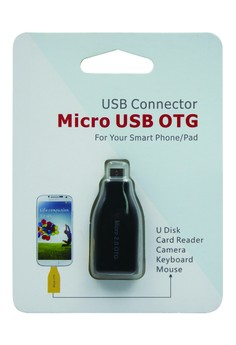 USB CONNECTOR Micro USB OTG For Smart Phone/Pad (BLACK)
