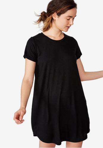 e9152273138c Cotton On black Knit Tina T-Shirt Dress CO372AA36LAHMY 1