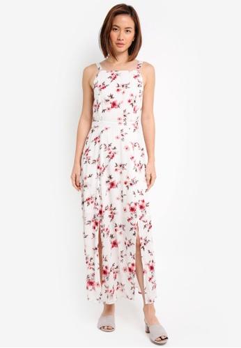ZALORA white Printed Maxi Dress D93B1AAAD29656GS_1